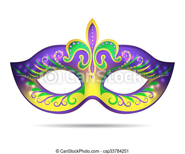 mardi gras mask isolated on white vector illustration rh canstockphoto com mardi gras vector free download mardi gras vector free download