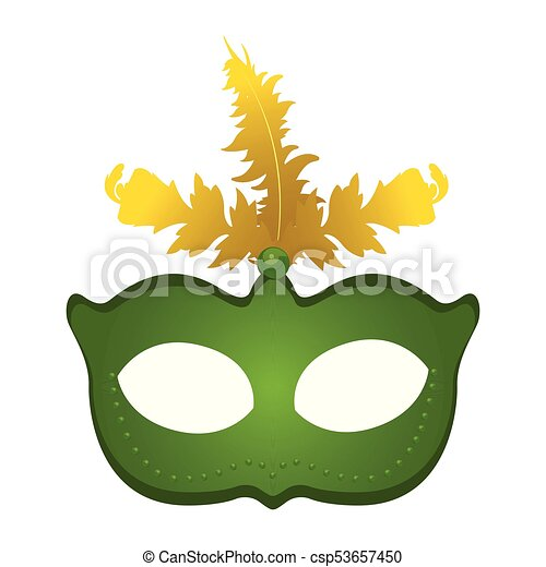 isolated mardi gras mask with feathers on a white clipart vector rh canstockphoto com mardi gras mask clipart black and white mardi gras mask clip art free