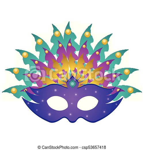 Isolated Mardi Gras Mask On A White Background Vector
