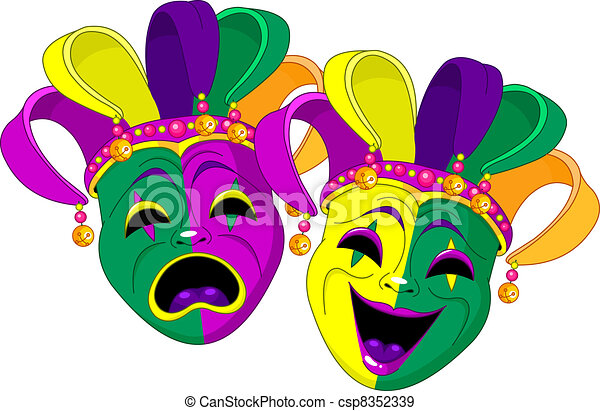 mardi gras masks mardi gras comedy and tragedy masks