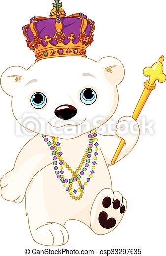Mardi Gras Polar Bear - csp33297635