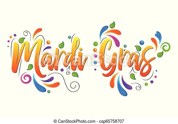 Mardi Gras vector isolated illustration on white background - csp65758707