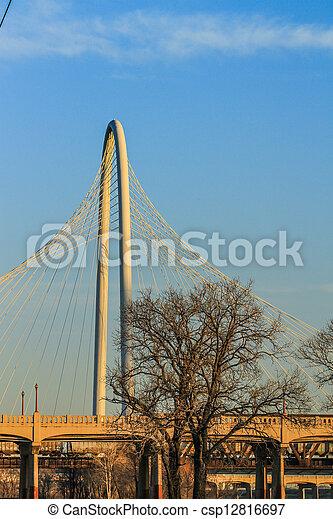Margaret Hunt Hill Bridge - csp12816697