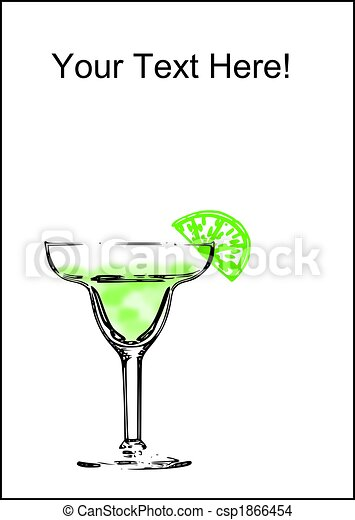 an abstract margarita glass with a line on a white drawing rh canstockphoto com Martini Glass Outline Decorative Martini Glass Centerpiece