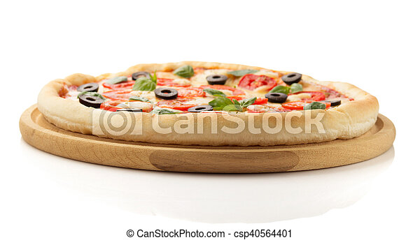 Margarita Pizza Isolated On White