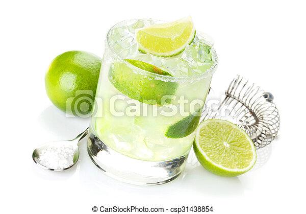 margarita, rand, salzig, cocktail, klassisch - csp31438854