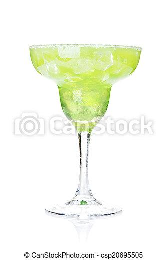 margarita, rand, salzig, cocktail, klassisch - csp20695505
