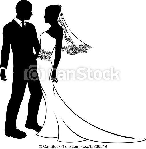 mari e couple palefrenier silhouette mariage beau. Black Bedroom Furniture Sets. Home Design Ideas