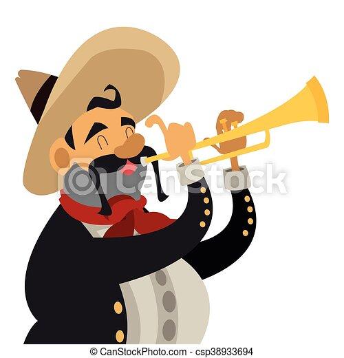 flat design mariachi musician icon vector illustration eps vectors rh canstockphoto com mariachi clipart free