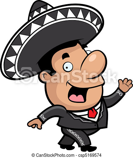 a happy cartoon mariachi walking and smiling eps vector search rh canstockphoto com mariachi band clipart mariachi clipart free