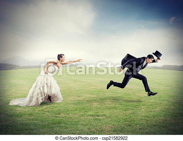 mariage, évasion - csp21582922