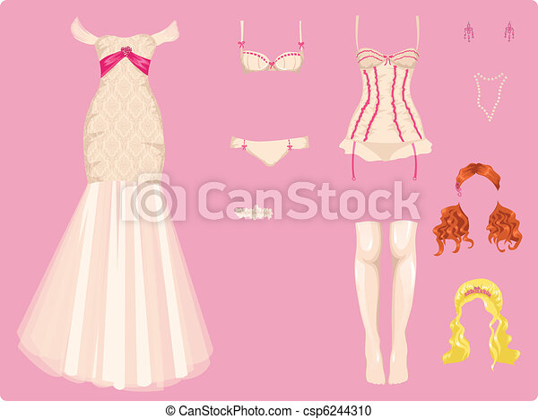 mariage, femme, vêtements - csp6244310