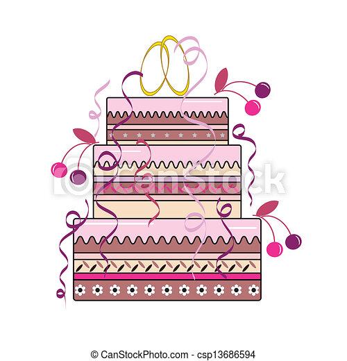 mariage, tarte - csp13686594