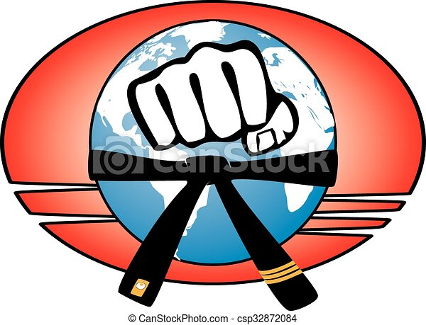 marial arts world power fist power fist mma karate vector rh canstockphoto com mma clipart free