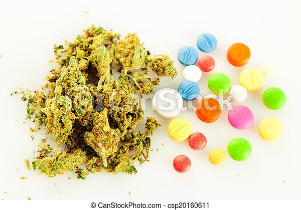 Marihuana, drugs, pills, narcotic - csp20160611