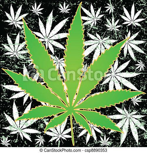 marihuana, hintergrund - csp8890353
