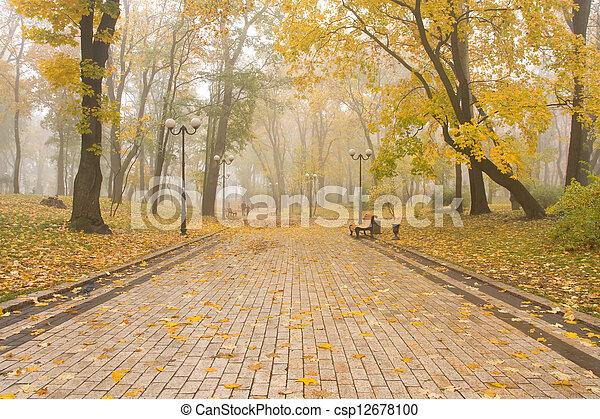 mariinsky, park, nevelig - csp12678100
