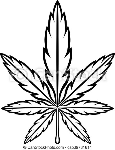 marijuana 001 eps stylized green marijuana pot weed leaf vector rh canstockphoto com weed leaf silhouette vector weed leaf vector png