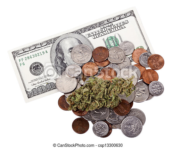 Marijuana, Change & Cash - csp13300630