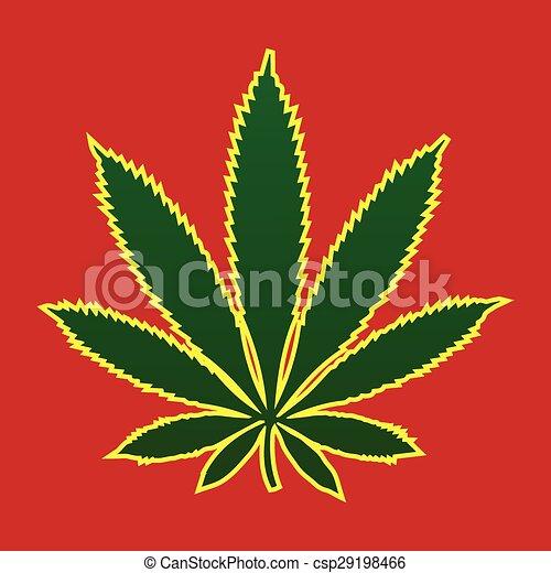 Marijuana leaf - csp29198466