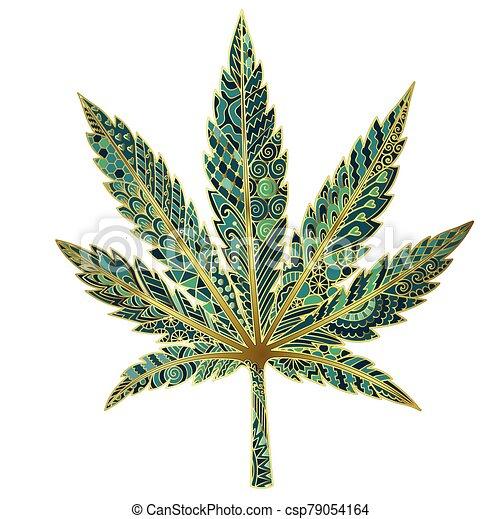 Marijuana leaf - csp79054164
