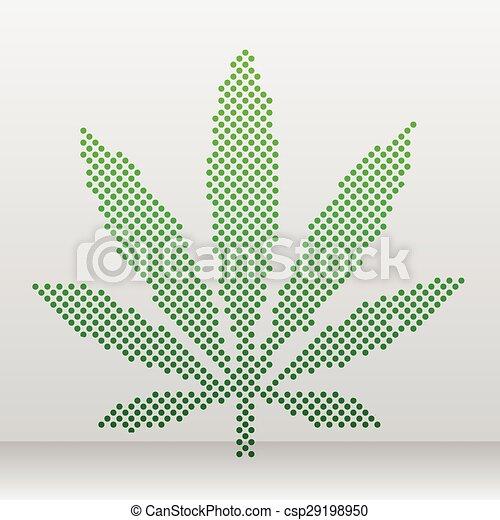 Marijuana leaf - csp29198950