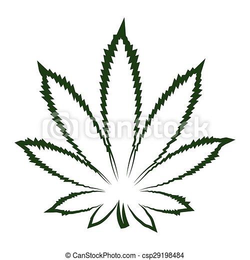 Marijuana leaf - csp29198484
