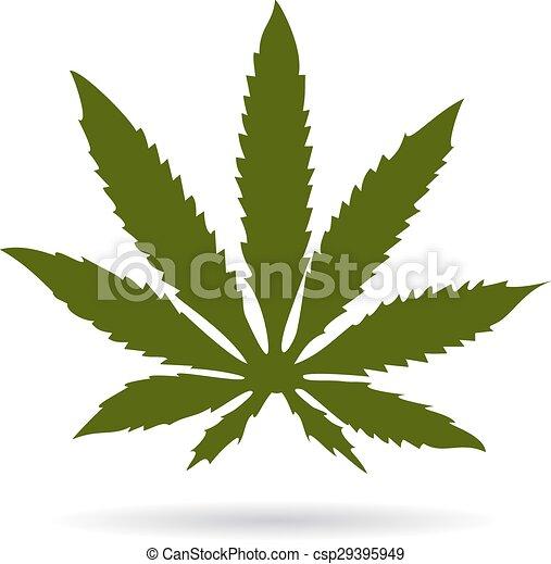 Marijuana leaf - csp29395949