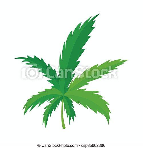 marijuana leaf icon cartoon style vector