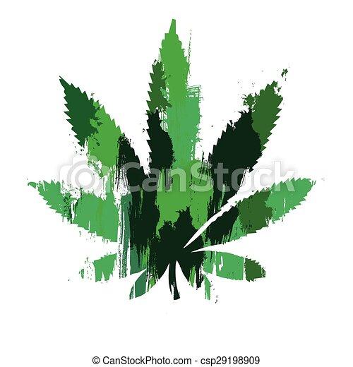 Marijuana leaf - csp29198909