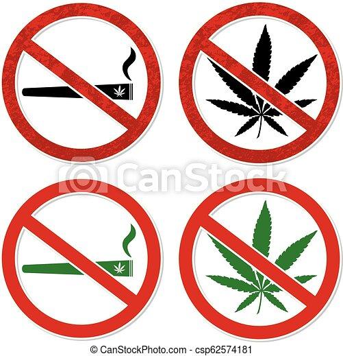 Marijuana smoking prohibited - csp62574181