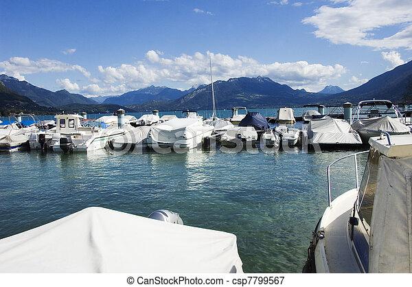 Marina and Annecy lake - csp7799567