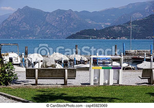marina at the lake - csp45923069