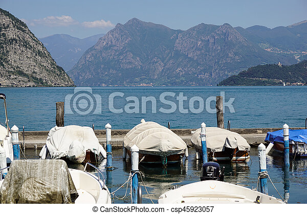 marina at the lake - csp45923057