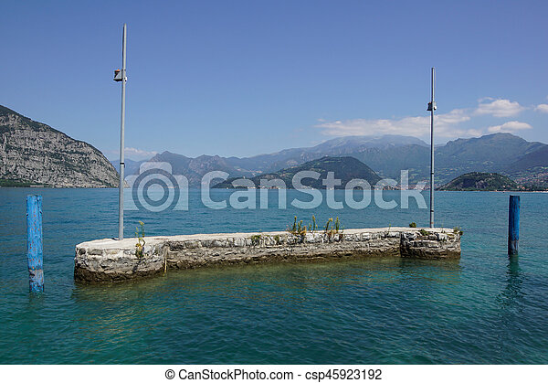 marina at the lake - csp45923192
