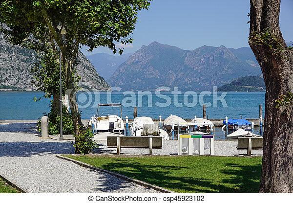marina at the lake - csp45923102