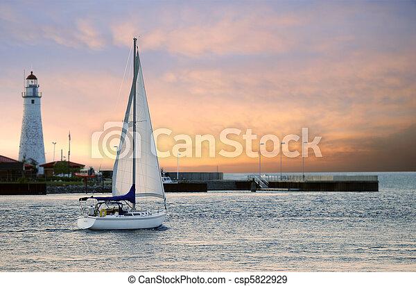 marina, barca vela, abbandono - csp5822929
