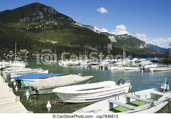 Marina of Annecy's lake - csp7846813