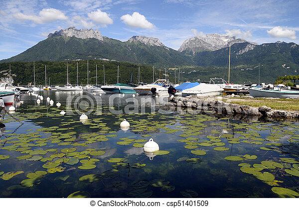 Marina of saint jorioz, annecy lake - csp51401509