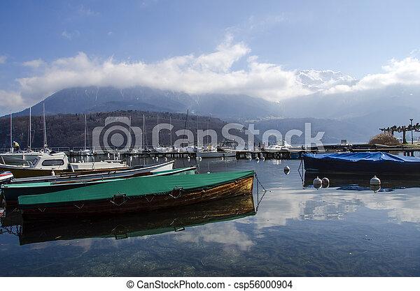 Marina of Saint Jorioz on Annecy lake - csp56000904