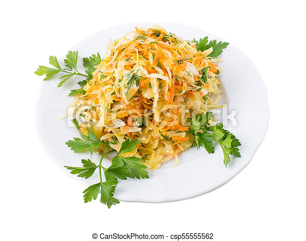 Marinated cabbage and carrots. - csp55555562