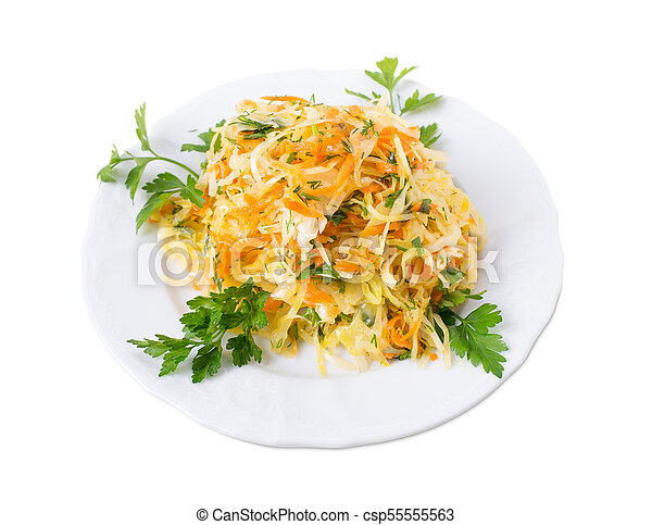 Marinated cabbage and carrots. - csp55555563