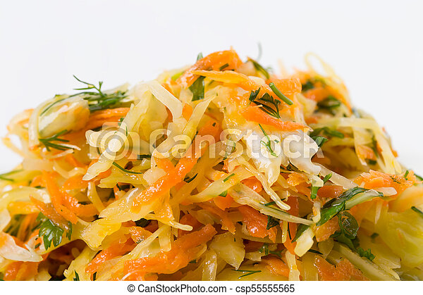 Marinated cabbage and carrots. - csp55555565