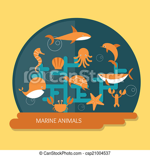 marine animals protection and conservation - csp21004537
