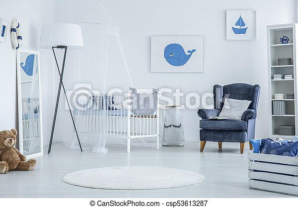 Marine baby room - csp53613287