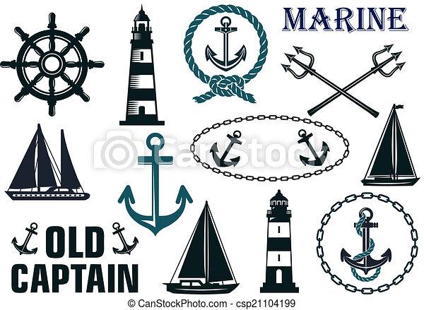Marine heraldic elements set - csp21104199