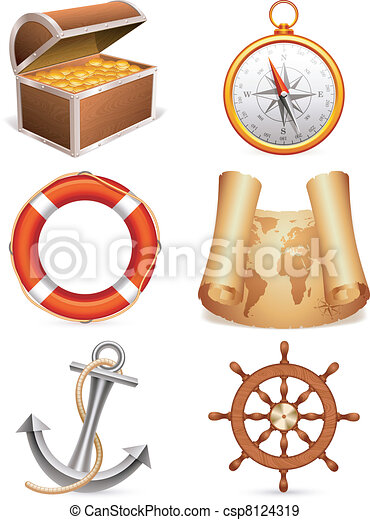 Marine icons. - csp8124319