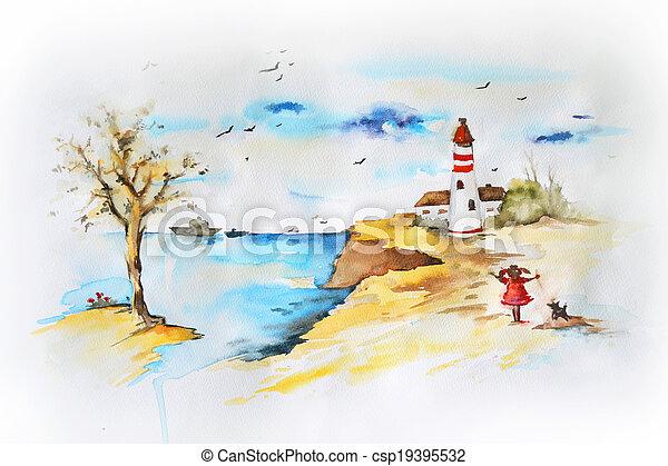 Marine landscape - csp19395532