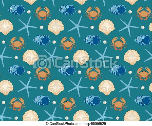 Seamless underwater texture Animated Marine Seamless Pattern Cartoon Style Underwater World Sea Life Infinite Background Starfish Can Stock Photo Marine Seamless Pattern Cartoon Style Underwater World Sea Life