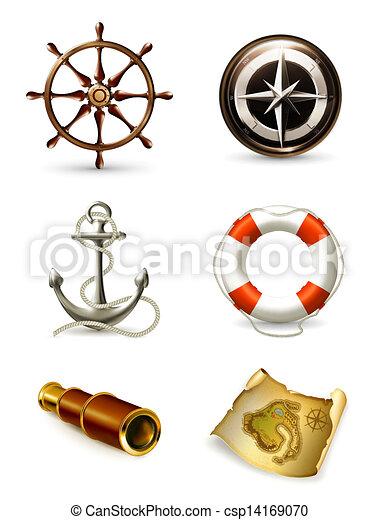 Marine set, high quality icons 10eps - csp14169070